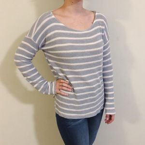 Splendid gray striped pullover sweater